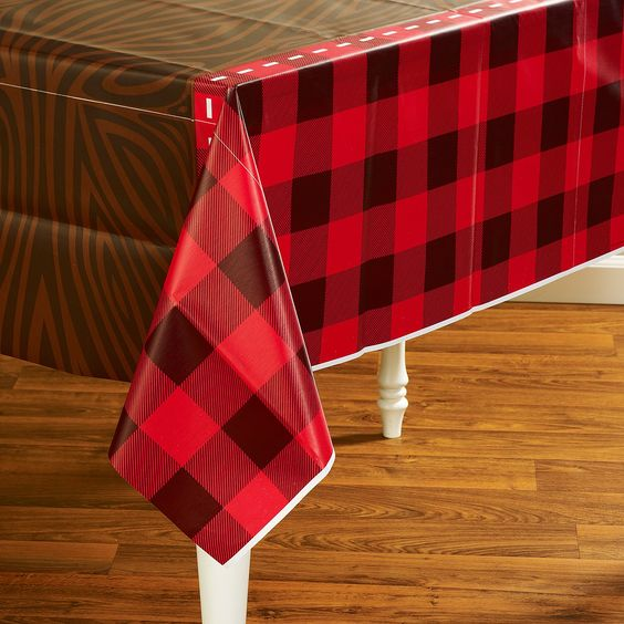 LumberJack Tablecloth | Canada Day/Lumberjack Party | Pinterest |  Birthdays, Lumberjack Party And Birthday Party Ideas