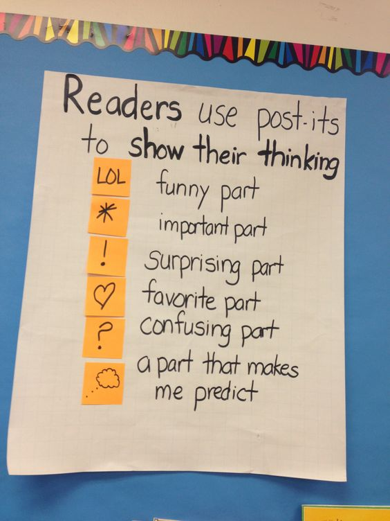 Readers use post its
