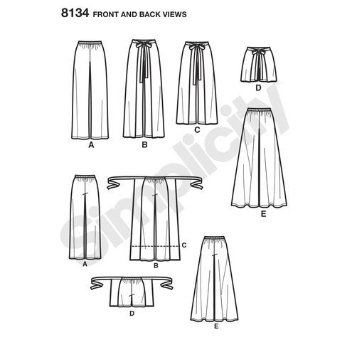 Simplicity Pattern 8134 Misses' Easy-to-Sew Pants and Shorts