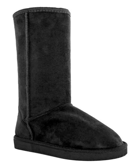 Look at this OLIVIA MILLER Black Ora Boot on #zulily today!