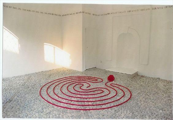 laberinto de la artista austríaca Marianne Ewaldt
