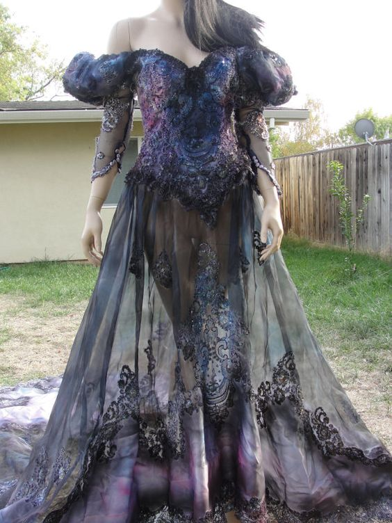 Day of the dead goth and the dead on pinterest for Corpse bride wedding dress for sale