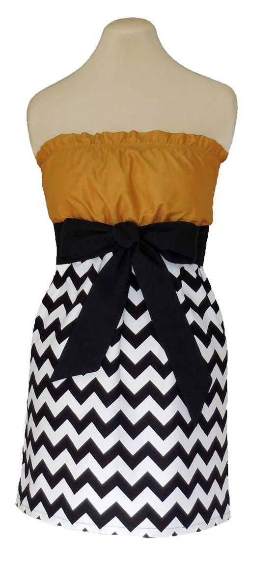 www.gameondresses... Game Day Chevron! Rock your school colors on game day, for rush or around campus with the Black and Gold chevron dress, just $39.99. We have over 65 dresses in all the great school colors. Go UCF Knights! Go Georgia Tech Yellow Jackets! Go Wake Forest Deacs! Go Vanderbilt Commodores!