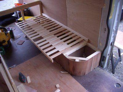 My Stealth Camper Project Bed Base 0 Van Dwelling