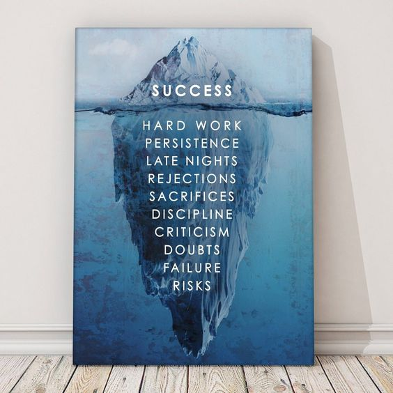 """""""Success"""" by IKONICK. The future belongs to those who believe in the beauty of their dreams. Art that looks great as a daily hustle in an office, living room, bedroom, the options are endless."""
