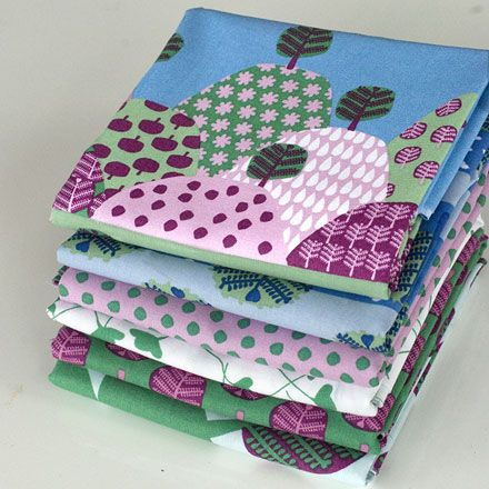 I really want to make a quilt for my daughter Ellee (age 6) from this fabric range from Craig Saffron. I then want to decorate her room to match too. I think it would look great, plus be a nice change from all the pink we currently have! Need to get sewing!