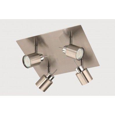 Briloner Led-rondell in matt-nickel, GU10 LED