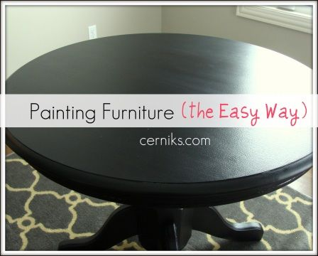 Paint Furniture in 4 Easy Steps. I am so happy I found this.  Going to do this to our table and get pretty seat covers! : )