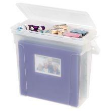 IRIS Scrapbook File Box, Clear