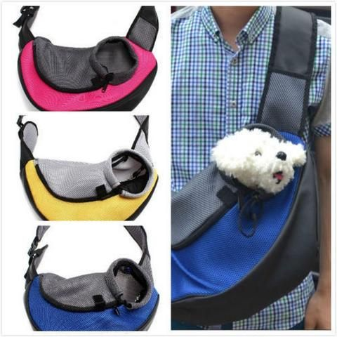 Cat Puppy Small Animal Sling Front Travel Mesh Carrier Ahlly