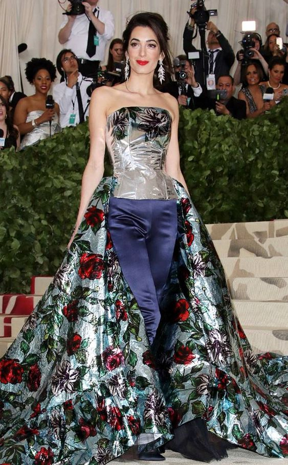 Amal Clooney from Met Gala 2018: Best Dressed Stars to the Hit the Red Carpet The Met Gala co-chair surprised us all in Richard Quinn metallic florals and pants!