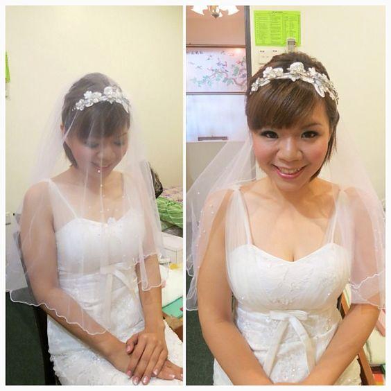 Wedding day makeup & hairdo, bride: Anne ❤ #updo
