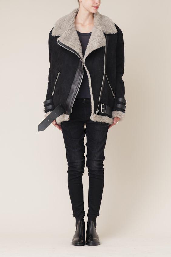 Acne Oversized Shearling Jacket. Eek! | Outerwear | Pinterest