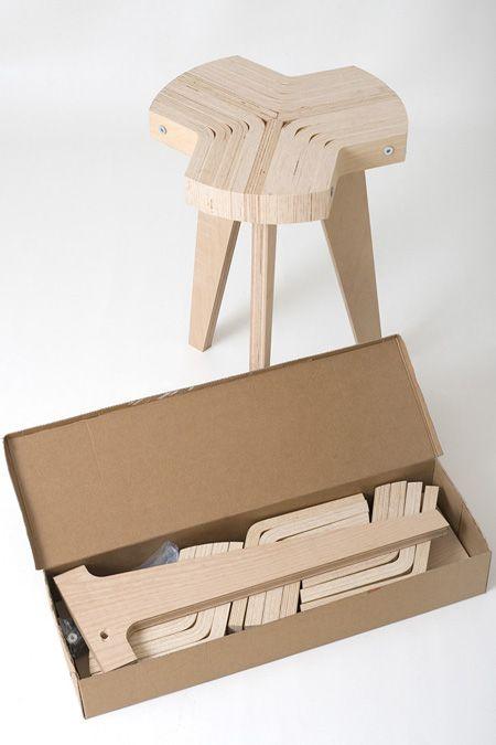Giorgio Biscaro Tabouret/Bois/Constructible
