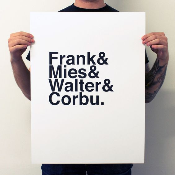 the minimalist design of the Frank Print is proof positive that Mies was right: less is more.