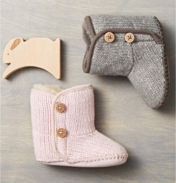 Infant Ugg Purl Knit Bootie