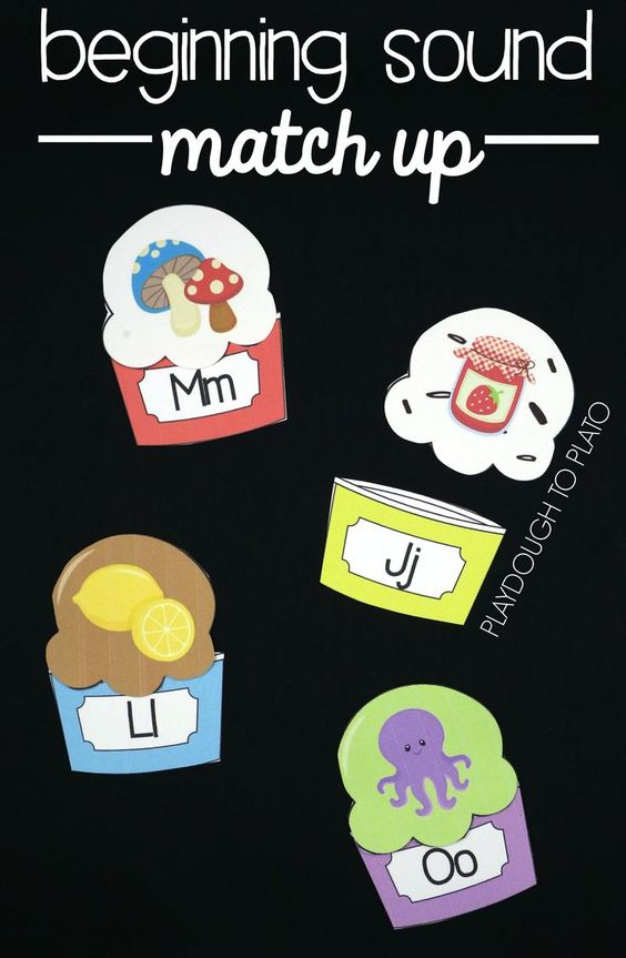 Fun beginning sound match up puzzles! Lots of awesome beginning sound activities for preschool and kindergarten.