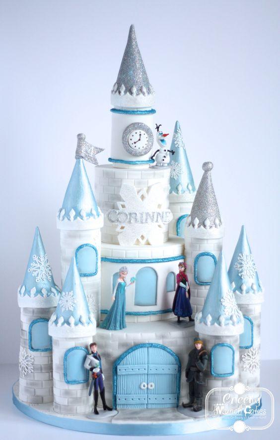 Cheeky Munch Cakes » disney frozen castle cake