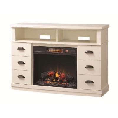 Home Decorators Collection Canton Park 48 In Corner Media Console Electric Fireplace In White