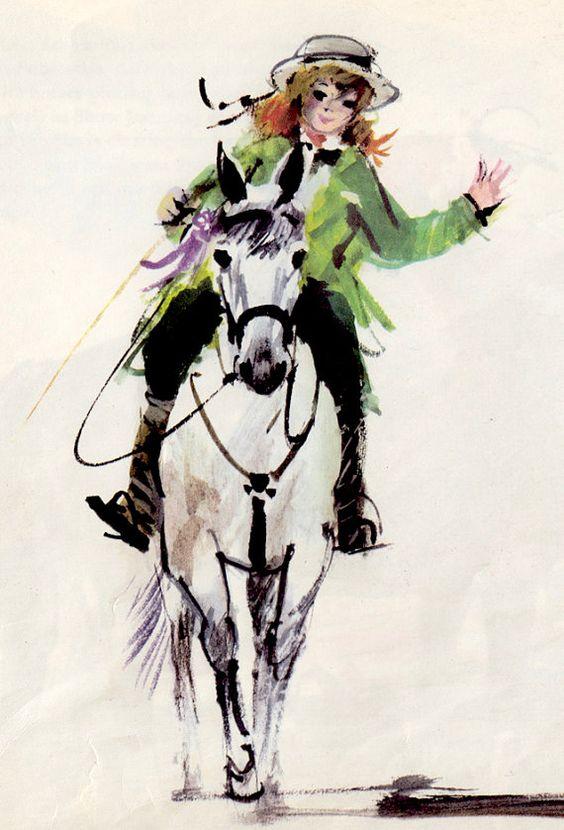 Pferde von Janusz Grabianski von ElwoodAndEloise auf Etsy