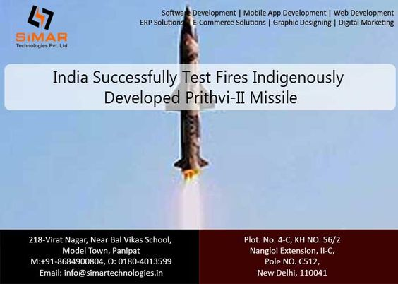http://www.ndtv.com/india-news/india-successfully-test-fires-indigenously-developed-prithvi-ii-missile-1407551