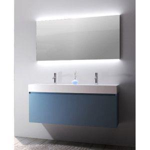 Mobile Bagno Amalfi doppio lavabo da 120 cm con cestone (vari colori)