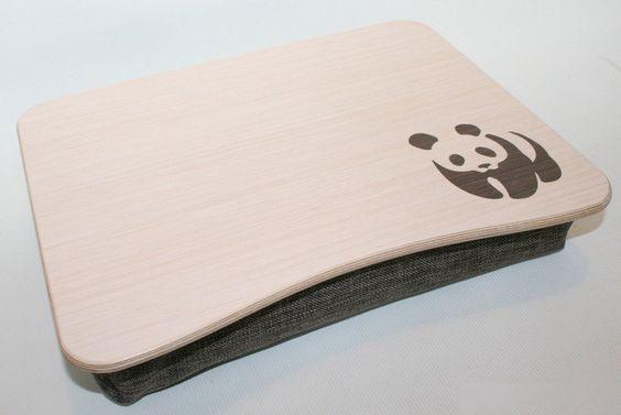 Laptop Tray - Knietablett aus Holz  von Holzfreude auf DaWanda.com
