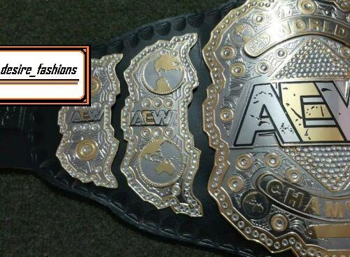 AEW World Heavyweight Belt 2mm Brass Adult Size