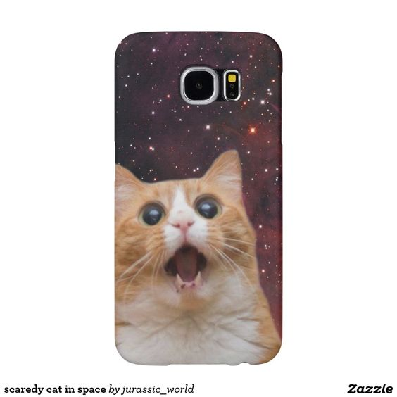 scaredy cat in space samsung galaxy s6 cases