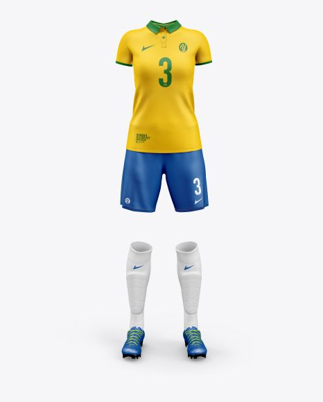 Download Women S Full Soccer Kit Mockup In Apparel Mockups On Yellow Images Object Mockups Design Mockup Free Soccer Kits Clothing Mockup