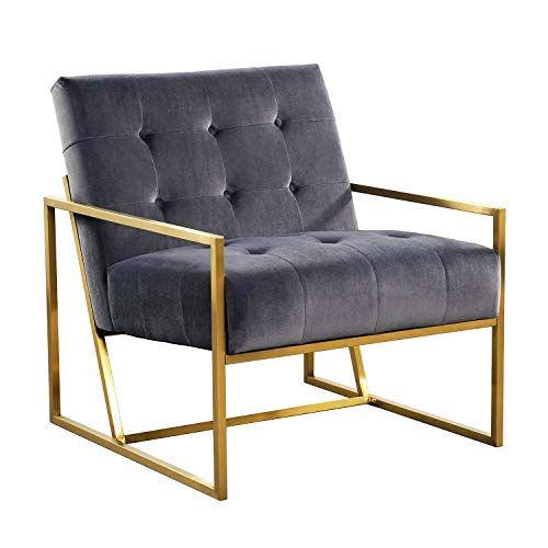 Mid Century Modern Accent Arm Chair Velvet Single Living Room