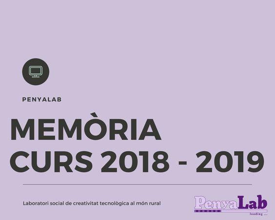 Memòria PenyaLab Juny 2018-Juny 2019