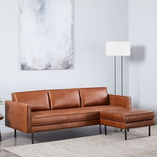 Super West Elm Right Arm 2 Seater Sofa Ottoman Sofa Leather Alphanode Cool Chair Designs And Ideas Alphanodeonline