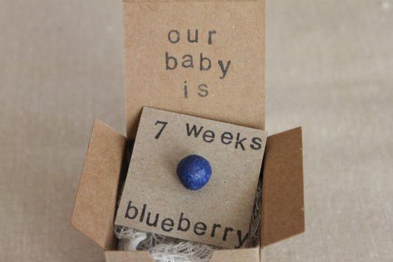 Set of 6 7 week Pregnancy Announcements How Big by ThePartyPosse, $64.99
