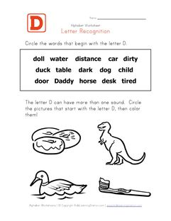 7 letter words starting with do letter d words alphabet recognition page learning 15472
