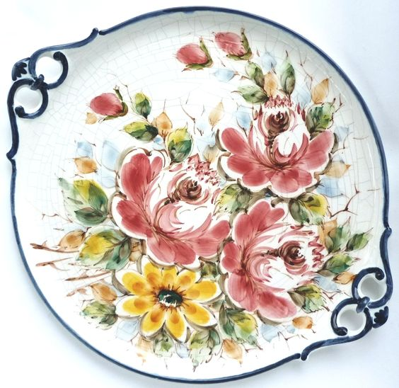 Beautiful portuguese cake plate