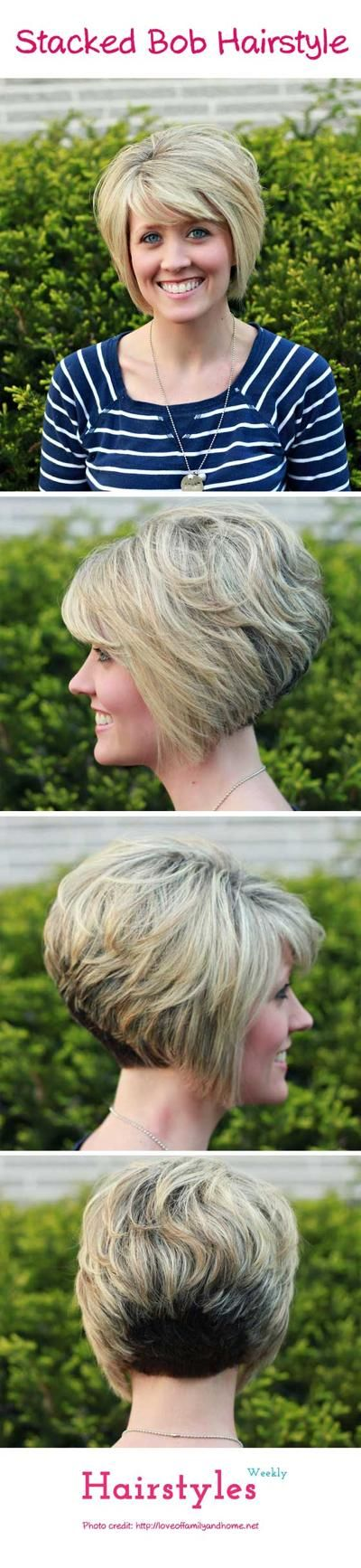 best stacked bob hairstyle for