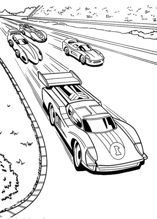 Race Car Coloring Page For Your Boys Hot Wheels Araba