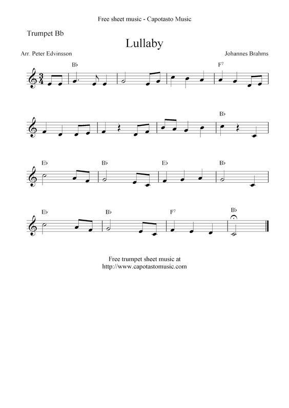 brahms lullaby piano sheet pdf