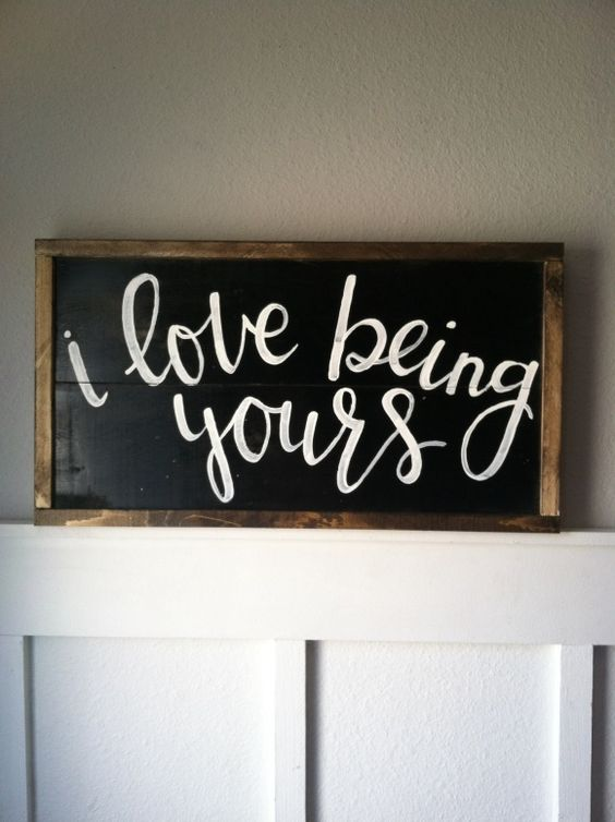 Salty Bison :: I love being yours sign