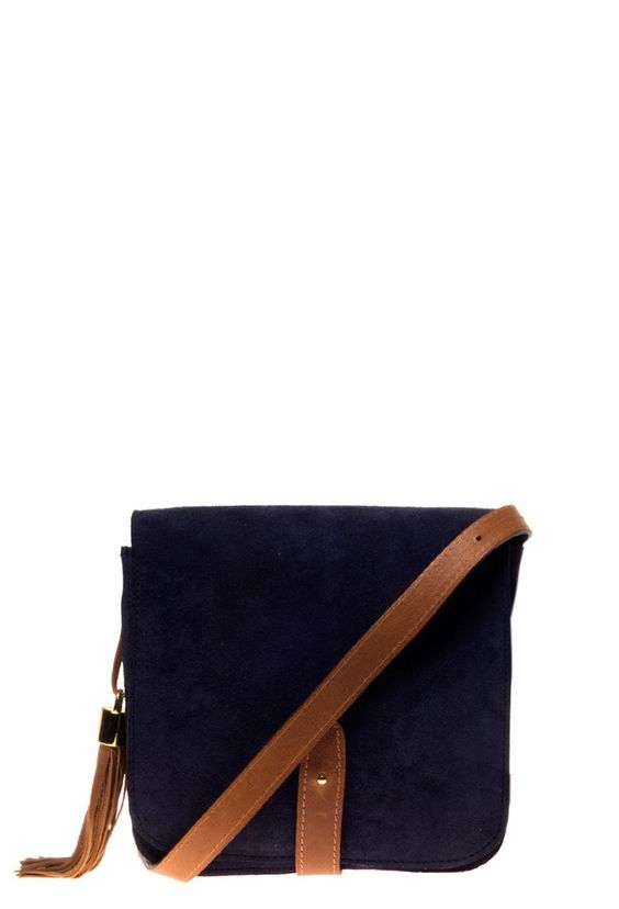 Bandolera Manhattan Bag azul - Abril Pereyra Lucena - online