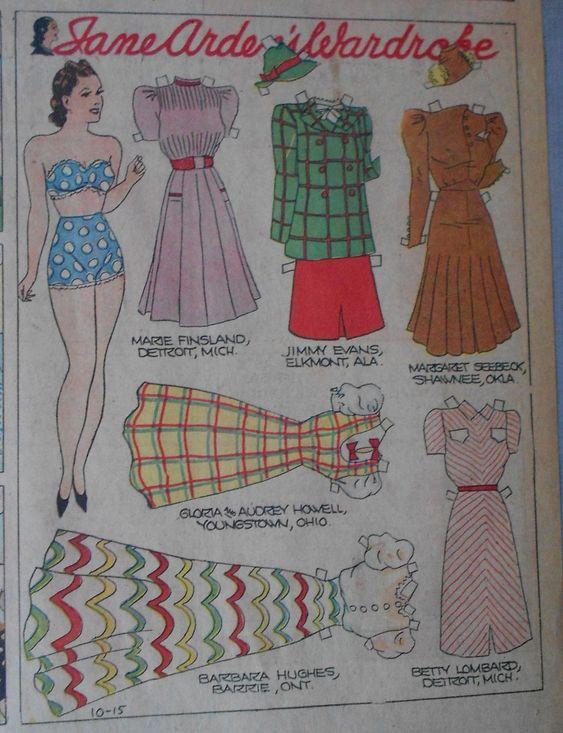 10-15-39 Jane Arden paper doll / eBay