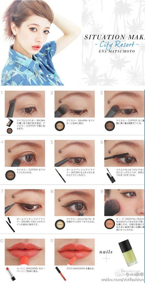 light gyaru makeup