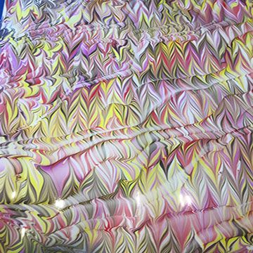 Silk Marbling Workshop Learn About The Magical Art Of Marbling On Fabric With This One Day Intensive Workshop W Water Marbling Printing On Fabric Magical Art
