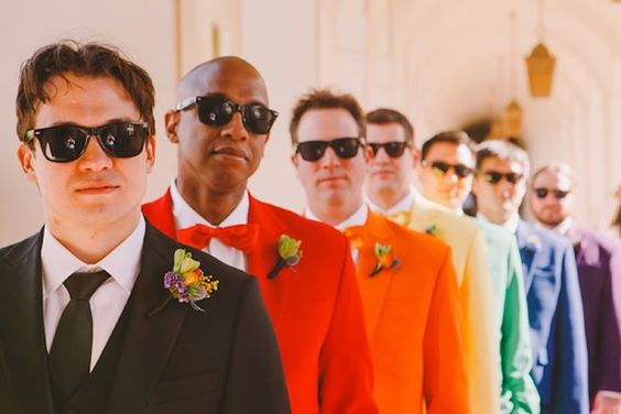 18 Crazy Colorful Ideas for Your Groom via Brit + Co: