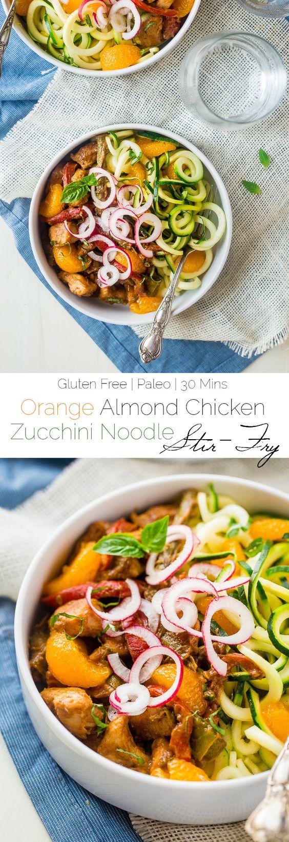 Healthy Chicken Stir Fry with Dijon Orange Almond Sauce and