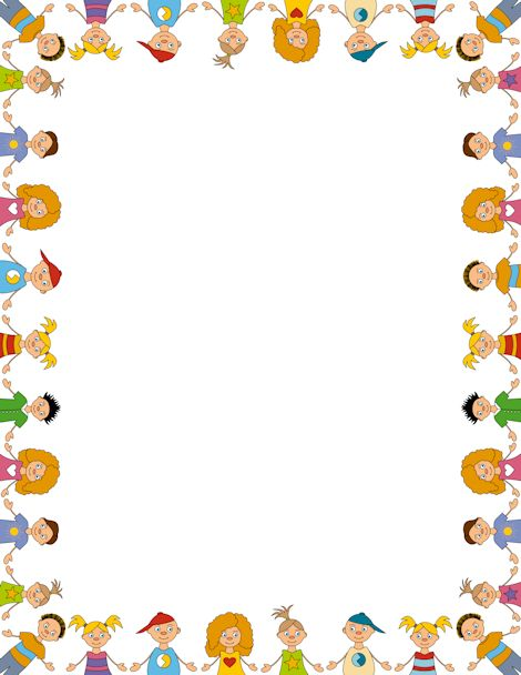 Printable children border. Free GIF, JPG, PDF, and PNG downloads ...