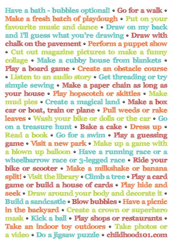 More Things To Do Instead Of Turning On The TV (and it's Printable!)