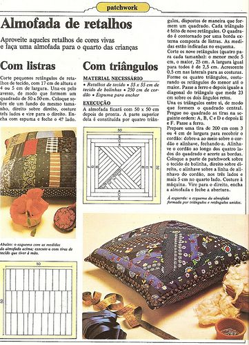 Almofada com patchwork: Pack Work, Almohadas Cojines, For Experiment, Projects For, Puffs Pillows, Cojines Moldes, Work Mantas