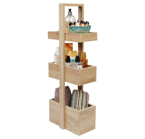 3 Tier Bathroom Storage Caddy Wood Effect Storage Caddy Bathroom Storage Caddy Bathroom Storage